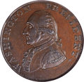 Colonials, 1791 1C Washington Small Eagle Cent MS62 Brown NGC. Baker-16, W-10630, R.3....
