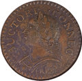 Colonials, 1787 COPPER Connecticut Copper, Laughing Head AU58 NGC. M. 6.1-M, W-2820, R.1....