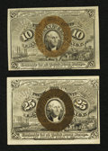 Fractional Currency:Second Issue, Two Different Second Issue Denominations.. ... (Total: 2 notes)