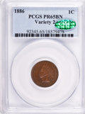 Proof Indian Cents: , 1886 1C Type Two PR65 Brown PCGS. CAC. PCGS Population (17/3). Numismedia Wsl. Price for problem free N...