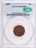 Proof Indian Cents: , 1887 1C PR64 Brown PCGS. CAC. PCGS Population (71/55). NGC Census: (100/154). Mintage: 2,960. Numismedia Wsl. Price for pro...
