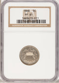 Proof Shield Nickels: , 1868 5C PR61 NGC. NGC Census: (1/154). PCGS Population (1/200).Mintage: 600. Numismedia Wsl. Price for problem free NGC/PC...