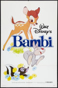 "Movie Posters:Animated, Bambi Lot (Buena Vista, R-1982). One Sheets (2) (27"" X 41""). Animated.. ... (Total: 2 Items)"