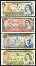 Canadian Currency: , Canadian Grouping.. ... (Total: 4 notes)