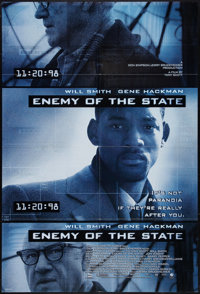 "Enemy of the State (Buena Vista, 1998). One Sheet (27"" X 41"") DS. Thriller"