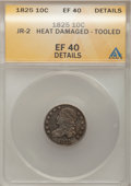 Bust Dimes, 1825 10C -- Heat Damaged, Tooled--ANACS. XF40 Details. JR-2. NGCCensus: (2/78). PCGS Population (3/59). Mintage: 410,000. N...