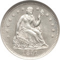 Seated Half Dimes: , 1841 H10C MS65 NGC. NGC Census: (25/11). PCGS Population (10/12).Mintage: 1,150,000. Numismedia Wsl. Price for problem fre...
