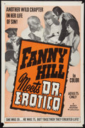 """Movie Posters:Adult, Fanny Hill Meets Dr. Erotico (Chancellor Films, Inc., 1967). One Sheet (27"""" X 41""""). Adult.. ..."""