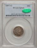 Barber Dimes, 1897-O 10C XF40 PCGS. CAC. PCGS Population (6/95). NGC Census:(3/56). Mintage: 666,000. Numismedia Wsl. Price for problem ...