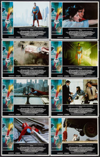 """Superman the Movie (Warner Brothers, 1978). Lobby Card Set of 8 (11"""" X 14""""). Action. ... (Total: 8 Items)"""