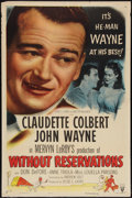 """Movie Posters:Comedy, Without Reservations (RKO, R-1953). One Sheet (27"""" X 41"""") Style A. Comedy.. ..."""
