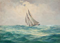 Mainstream Illustration, ANTON OTTO FISCHER (American, 1882-1962). Sailing Vessel.Oil on canvas. 24 x 33.5 in.. Signed lower left. From the...