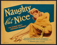 "Naughty But Nice (Warner Brothers, 1939). Title Lobby Card (11"" X 14""). Comedy"
