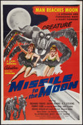 """Movie Posters:Science Fiction, Missile to the Moon (Astor Pictures, 1958). One Sheet (27"""" X 41"""").Science Fiction.. ..."""