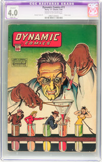 Dynamic Comics #11 (Chesler, 1944) CGC Apparent VG 4.0 Slight (A) Cream to off-white pages