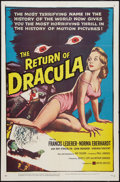 """Movie Posters:Horror, The Return of Dracula (United Artists, 1958). One Sheet (27"""" X 41""""). Horror.. ..."""