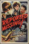 """Movie Posters:Thriller, Reported Missing (Universal, 1937). One Sheet (27"""" X 41""""). Thriller.. ..."""