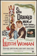 "Movie Posters:Horror, The Leech Woman (Universal, 1960). One Sheet (27"" X 41""). Horror.. ..."