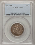 Seated Quarters: , 1843-O 25C XF40 PCGS. PCGS Population (5/21). NGC Census: (4/29).Mintage: 968,000. Numismedia Wsl. Price for problem free ...