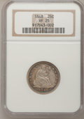 Seated Quarters: , 1848 25C VF25 NGC. NGC Census: (1/26). PCGS Population (0/39).Mintage: 146,000. Numismedia Wsl. Price for problem free NGC...
