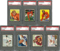 Football Cards:Lots, 1950 Bowman Football PSA NM-MT 8 Collection (7). ...