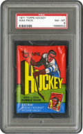 Hockey Cards:Other, 1971 Topps Hockey Wax Pack PSA NM-MT 8. ...