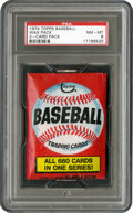 Baseball Cards:Other, 1974 Topps Baseball 2-Card Wax Pack PSA NM-MT 8....