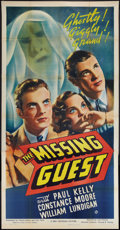 "Movie Posters:Mystery, The Missing Guest (Universal, 1938). Three Sheet (41"" X 81"").Mystery.. ..."