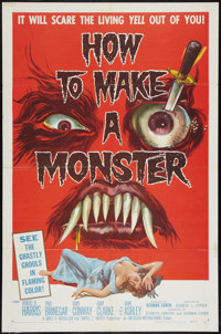 """How to Make a Monster (American International, 1958). One Sheet (27"""" X 41""""). Horror"""