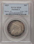 Bust Half Dollars: , 1823 50C Patched 3 XF45 PCGS. PCGS Population (9/36). NGC Census:(2/31). (#6133)...