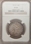 Bust Half Dollars: , 1814/3 50C VF30 NGC. NGC Census: (10/80). PCGS Population (13/106).Numismedia Wsl. Price for problem free NGC/PCGS coin i...