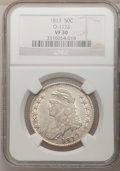 Bust Half Dollars: , 1817 50C VF30 NGC. O-111a. NGC Census: (13/324). PCGS Population(23/407). Mintage: 1,215,567. Numismedia Wsl. Price for p...