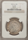 Bust Half Dollars: , 1827/6 50C XF45 NGC. O-103. NGC Census: (10/59). PCGS Population(17/104). Numismedia Wsl. Price for problem free NGC/PCG...