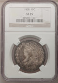 Bust Half Dollars: , 1808 50C VF35 NGC. NGC Census: (20/330). PCGS Population (49/349).Mintage: 1,368,600. Numismedia Wsl. Price for problem fr...