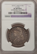 Bust Half Dollars, 1818/7 50C Large 8--Improperly Cleaned--NGC Details. XF. O-103a.PCGS Population (8/90). (#6113)...