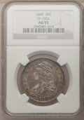Bust Half Dollars: , 1809 50C Normal Edge AU55 NGC. O-102a. NGC Census: (45/164). PCGSPopulation (54/100). Mintage: 1,405,810. (#6092)...