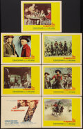 "Movie Posters:Western, The Magnificent Seven (United Artists, 1960). Title Lobby Card & Lobby Cards (6)(11"" X 14""). Western.. ... (Total: 7 Items)"