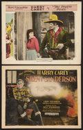 "Movie Posters:Western, Harry Carey Lot (Producers Distributing, 1925). Title Lobby Card and Lobby Card (11"" X 14""). Western.. ... (Total: 2 Items)"