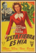 "Movie Posters:War, This Land Is Mine (RKO, 1943). Argentinean Poster (29"" X 43"").War.. ..."