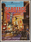 """Movie Posters:Hitchcock, Sabotage (Rank, R-1980s). Indian One Sheet (28.75"""" X 39.75""""). Hitchcock.. ..."""