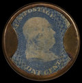 Encased Postage: , HB-28 EP-4a 1¢ Ayer's Sarsaparilla Extremely Fine.. ...