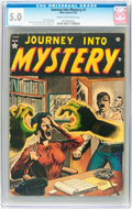 Golden Age (1938-1955):Horror, Journey Into Mystery #1 (Marvel, 1952) CGC VG/FN 5.0 Cream tooff-white pages....