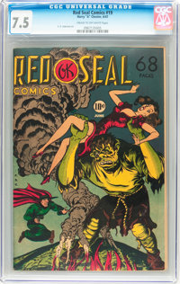 Red Seal Comics #19 (Chesler, 1947) CGC VF- 7.5 Cream to off-white pages