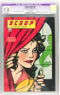 Scoop Comics #8 (Chesler, 1944) CGC Apparent FN/VF 7.0 Slight (A) Off-white pages
