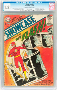 Showcase #4 Flash (DC, 1956) CGC GD- 1.8 Cream to off-white pages