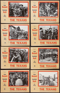 "The Texans (Paramount, 1938). Special Lobby Card Set of 8 (11"" X 14""). Western. ... (Total: 8 Items)"
