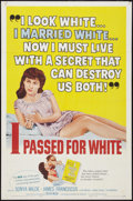 """Movie Posters:Exploitation, I Passed for White (Allied Artists, 1960). One Sheet (27"""" X 41""""). Exploitation.. ..."""