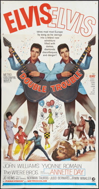 """Double Trouble (MGM, 1967). Three Sheet (41"""" X 81""""). Elvis Presley"""