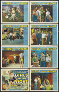 """Movie Posters:Crime, Girls in the Night (Universal International, 1953). Lobby Card Set of 8 (11"""" X 14""""). Crime.. ... (Total: 8 Items)"""