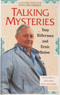 Books:Signed Editions, Tony Hillerman and Ernie Bulow. Talking Mysteries. AConversation with Tony Hillerman. SIGNED. Illustrations by ...